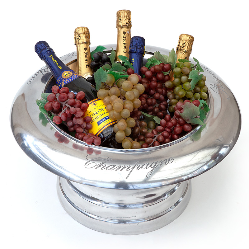 Heavy gauge champagne and wine cooler. Engraved Vin Blanc, Champagne, Prosseco.