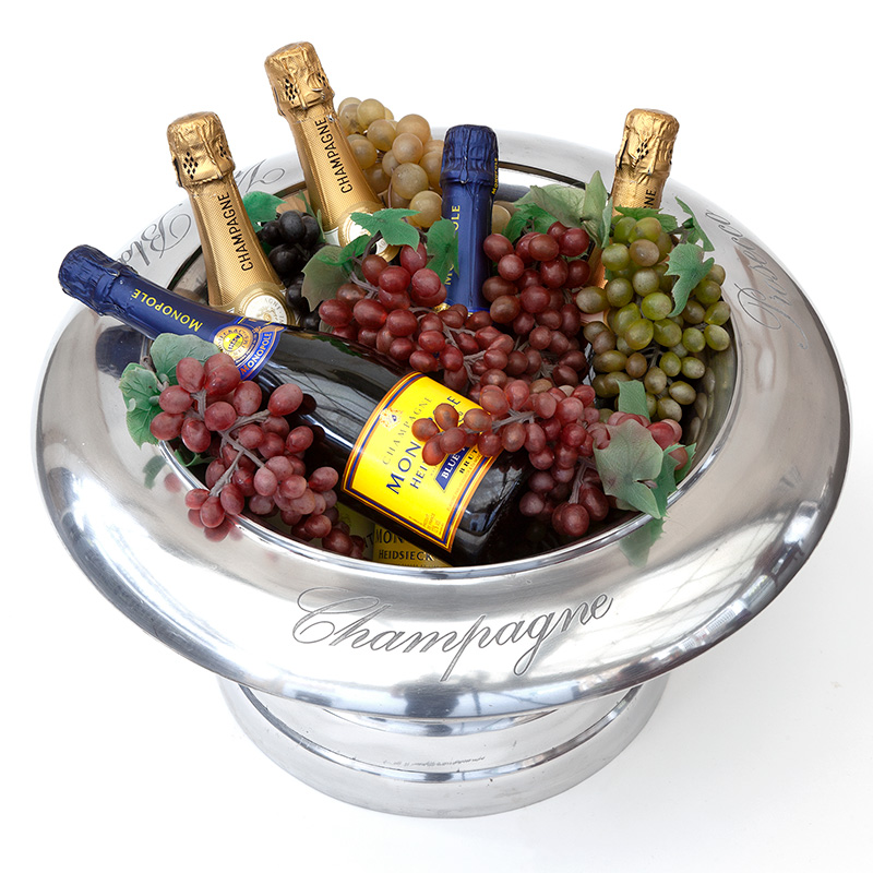 Heavy Gauge Cast and Engraved Champagne and Wine Cooler