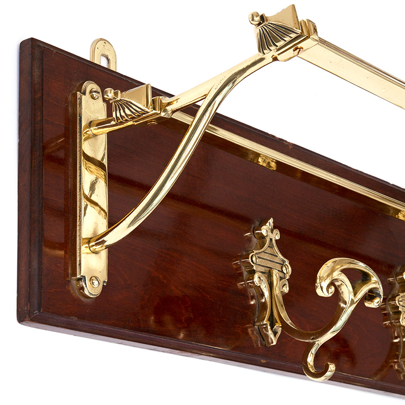 Chunky Antique Polished Mahogany and Brass French Portmanteau