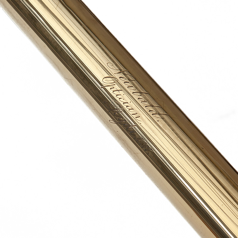 Polished Brass Table Telescope by Newbold Opticians Ryde Isle of Wight