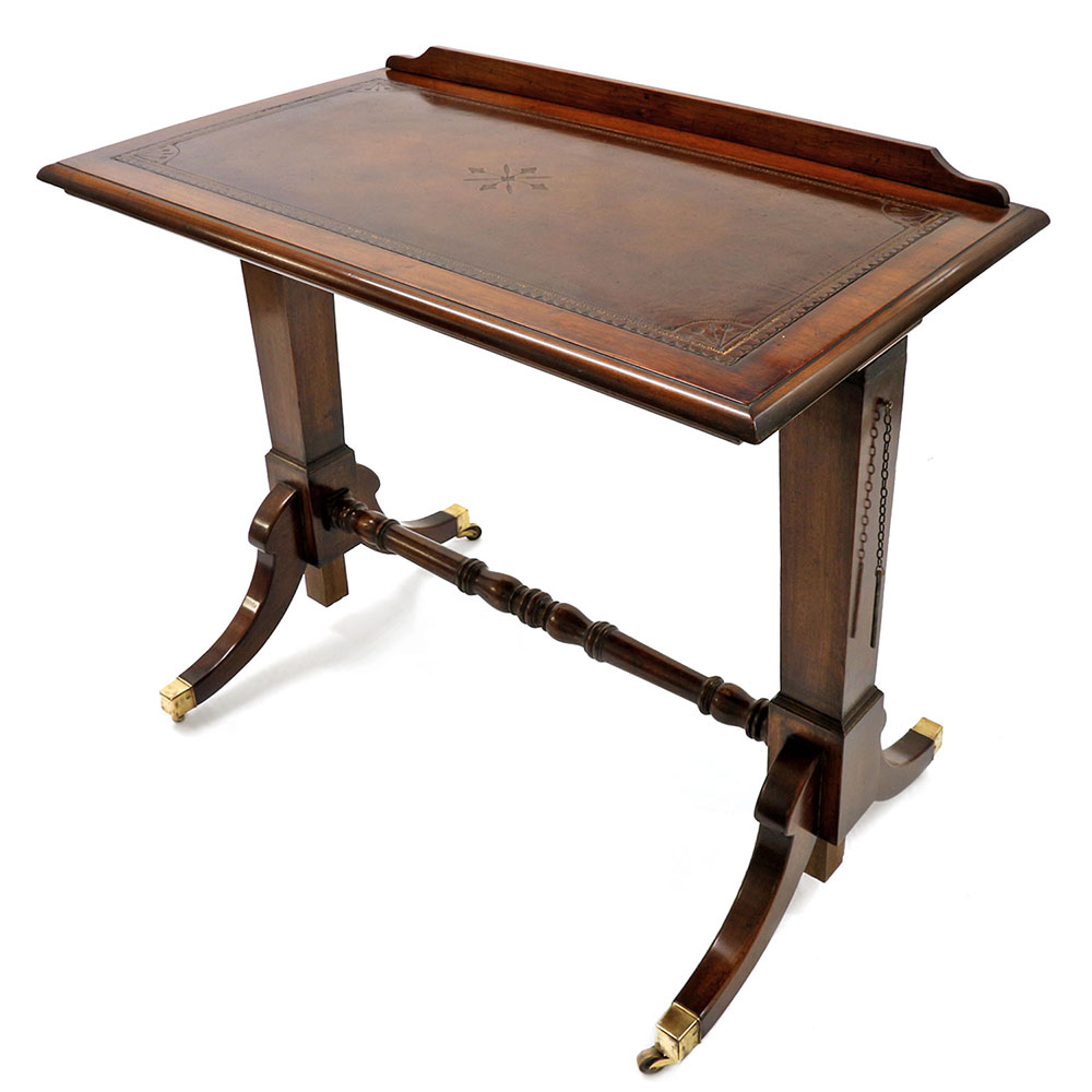 Antique Mahogany Fully Adjustable Draftsmans Table