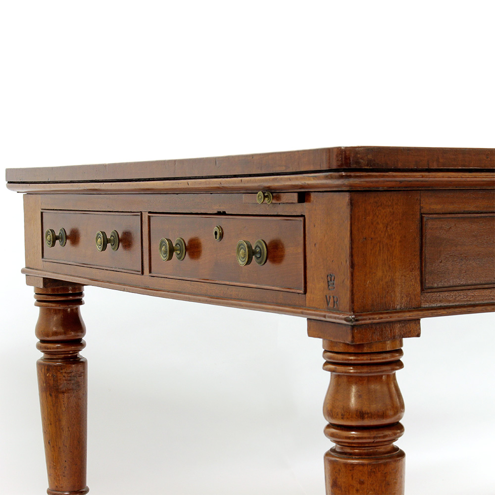 Antique Mahogany Writing Table with Royal Provenance