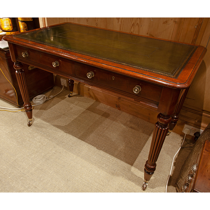 Edwards & Roberts Polished Mahogany Free Standing Writing Table