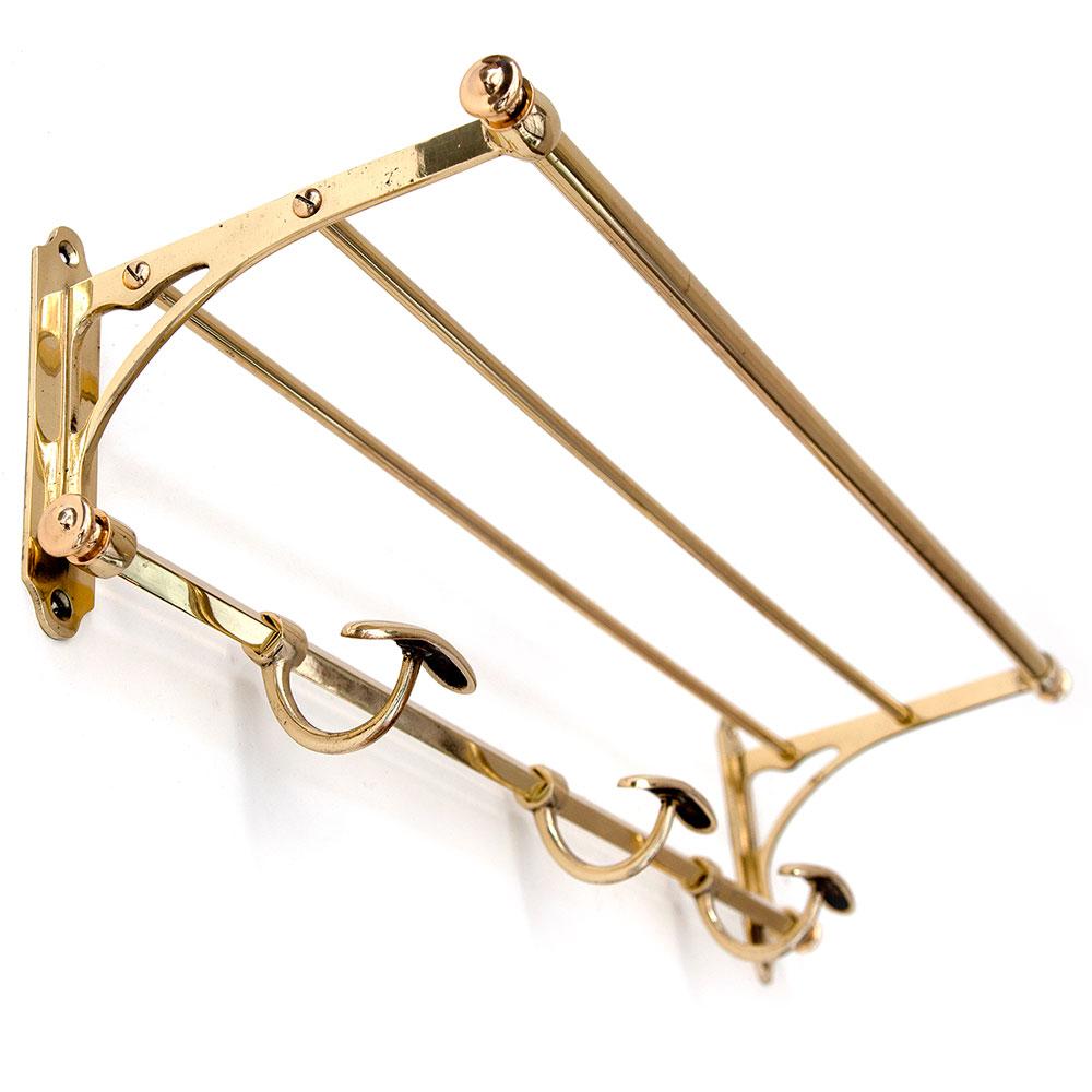 Small Brass Triple Hook Portmanteau