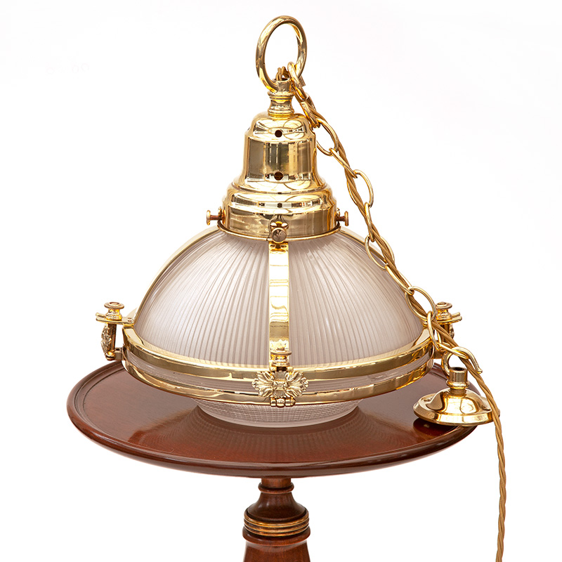 Super Quality Holophane Brass Caged Pendant Lamp
