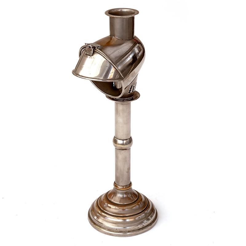 Nickel Plated Travelling Reading Lamp by Veritas Lamp Works