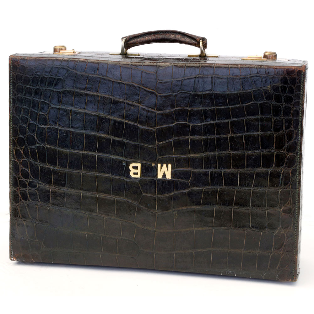 Super Quality Dark Green Antique Crocodile Suitcase