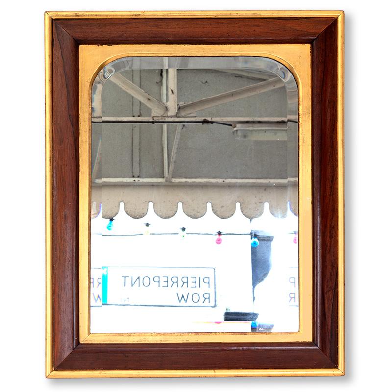 Mahogany and Gilt Framed Regency Deep Bevelled Mirror