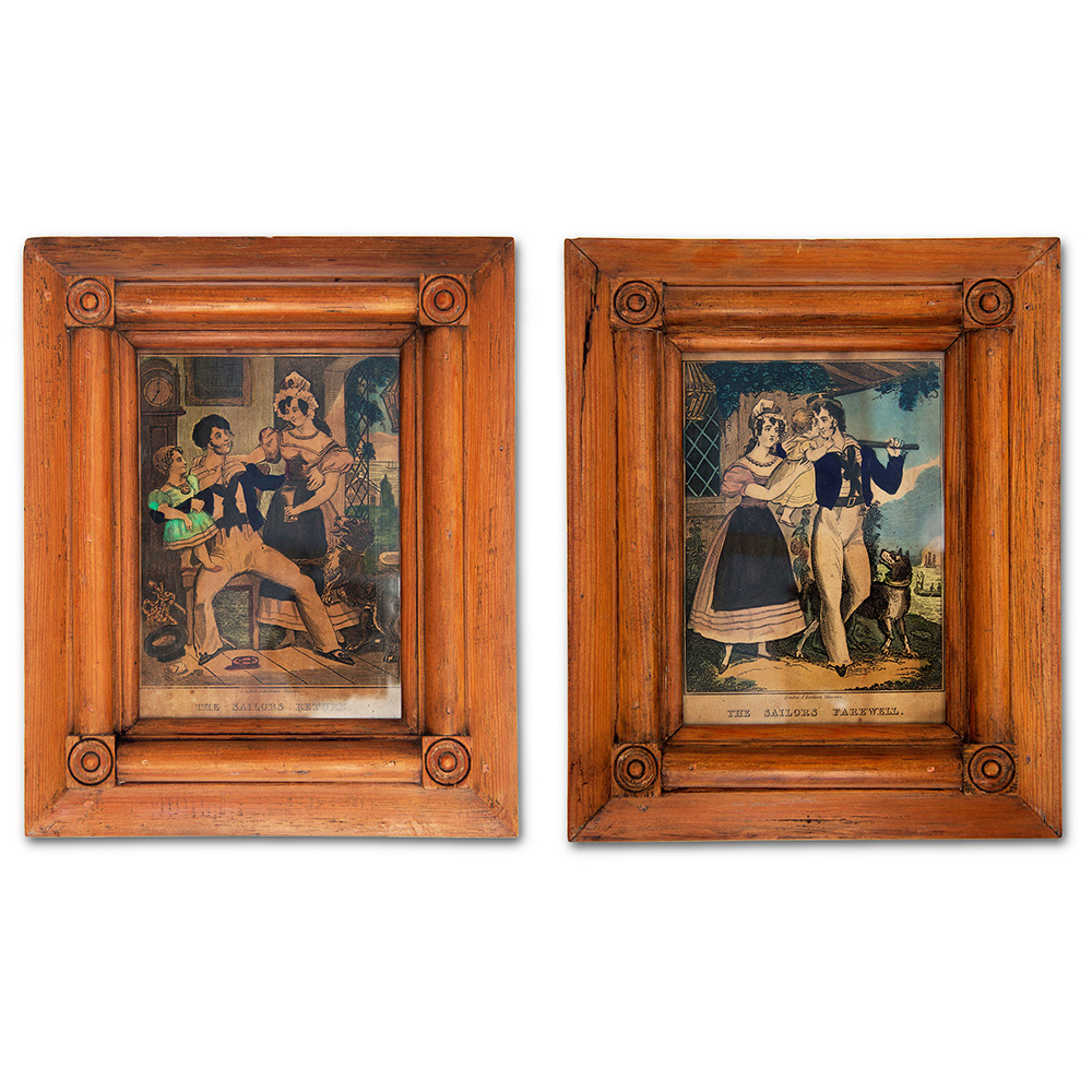 `The Sailors Fairwell` and `The Sailors Return` Framed Prints