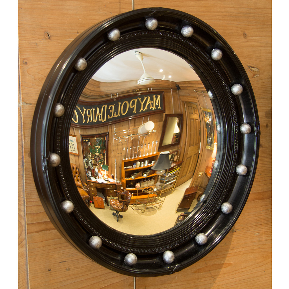 Black border convex mirror 18.5