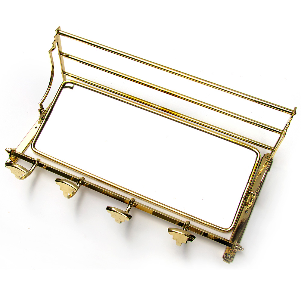 French Brass Art Deco Mirrored Portmanteau