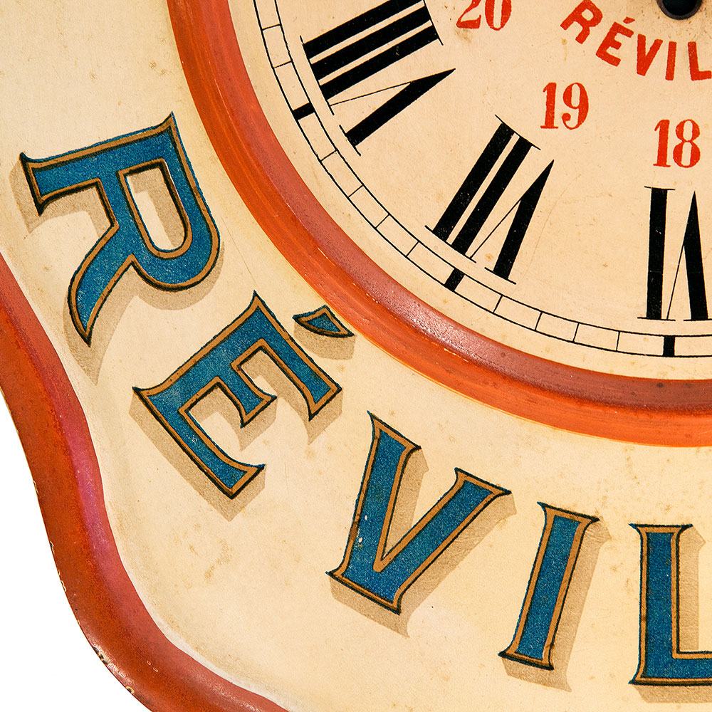 French Advertising Clock