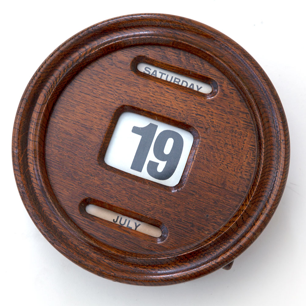 Wall Mounted Oak Perpetual Calendar