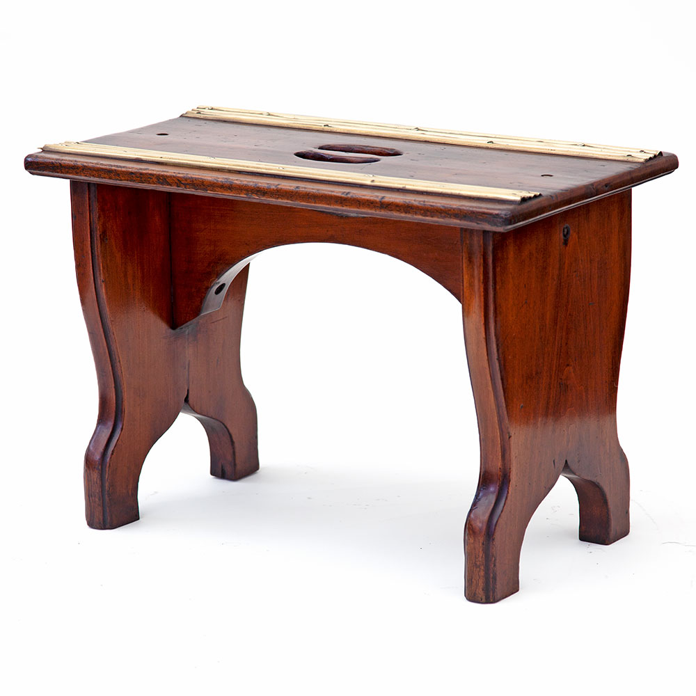 Gutsy French Polished Walnut Luggage Stand