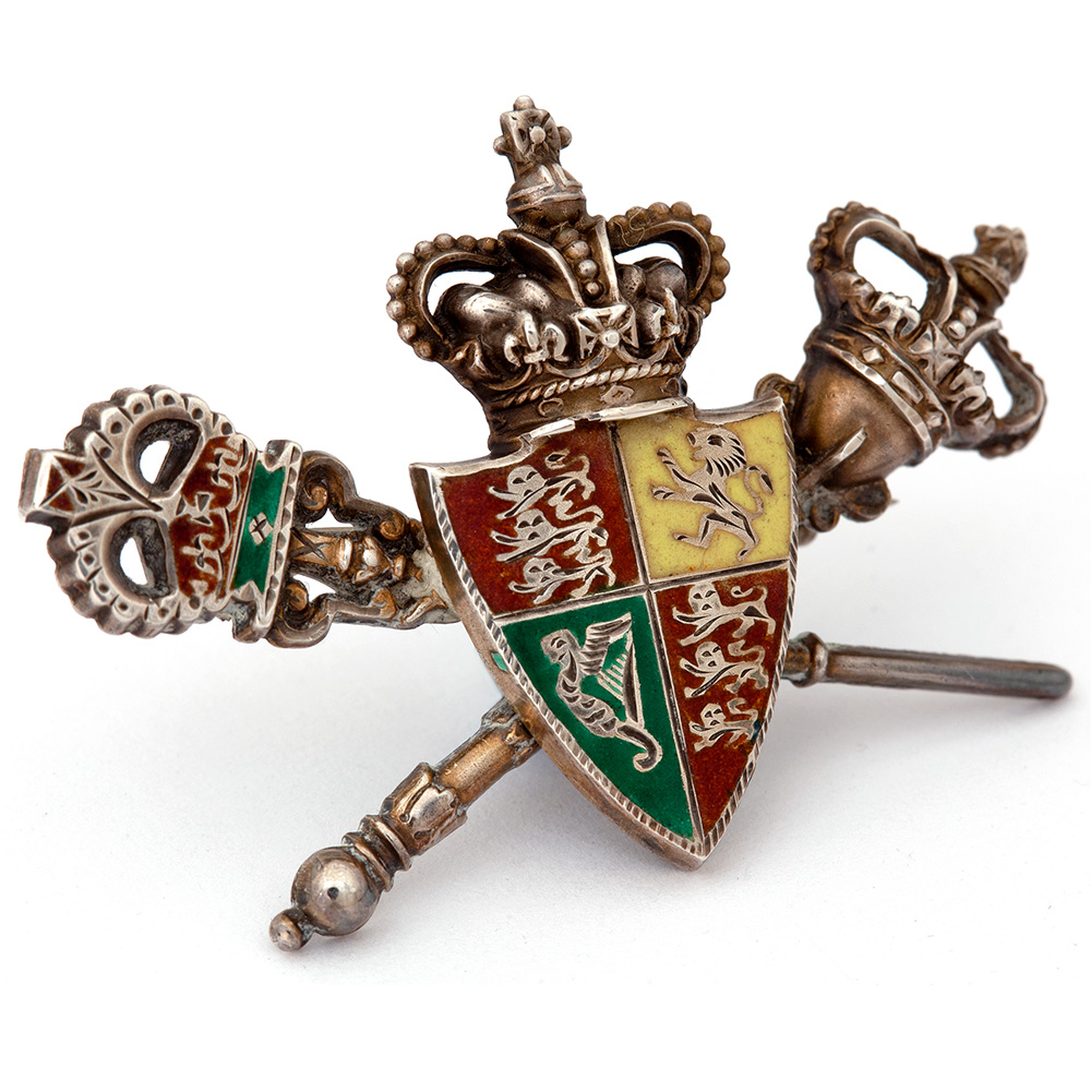 Charming antique Victorian silver and enamel articulated brooch.