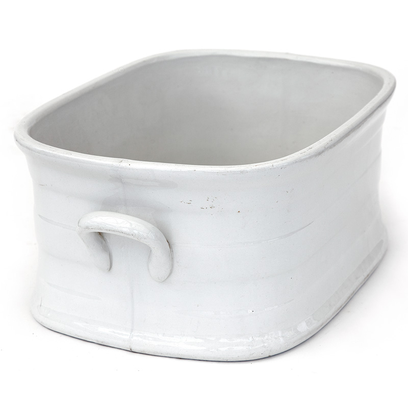 Antique White Glased Stoneware Footbath