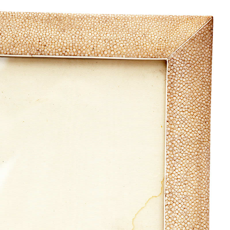 Shagreen Picture Frame with Felt and Leather Backing