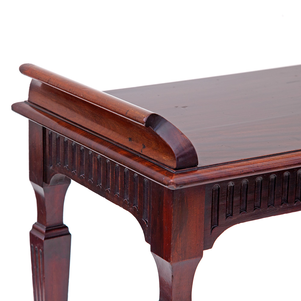Pair of Late Victorian Polished Mahogany Wing End Window Seats