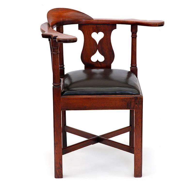 Large George II Mahogany Corner Chair
