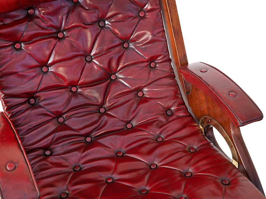 Brass Mounted Mahogany Folding Armchair from an Original Design by Herbert McNair