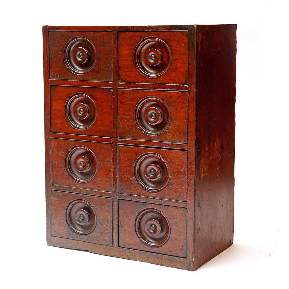 Small Set of Mahogany Grocers Drawers