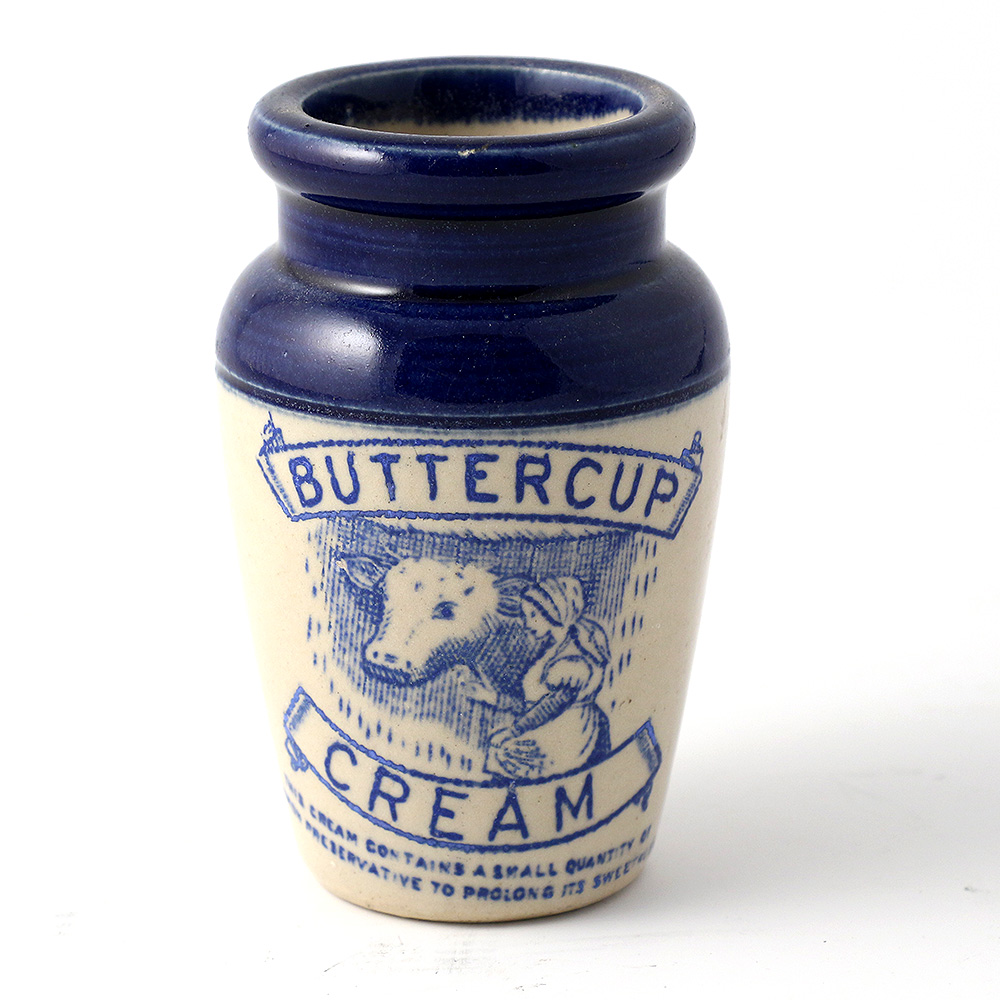 Glazed Stoneware Cream Pot c.1870