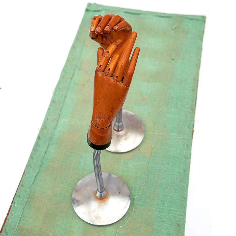 Pair of Fully Articulating Boxwood Glove Shop Display Hands (c.1930)