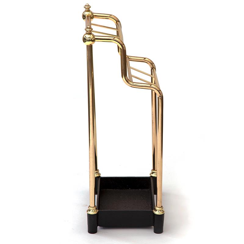 Brass and Cast Iron Waterfall Stick Stand