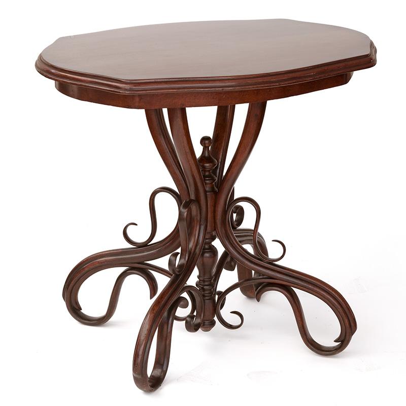 Rare Salon Thonet Antique Centre Table