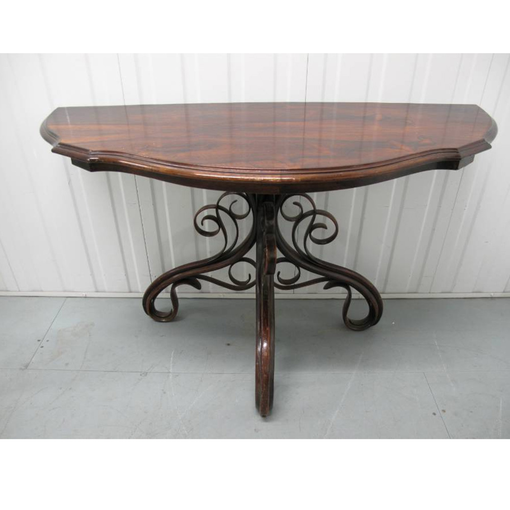 Antique rosewood topped bentwood console table by Thonet c.1890.