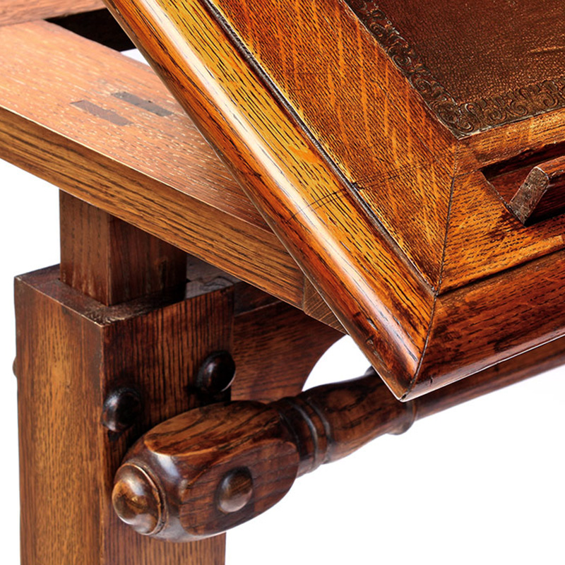 Extremely Rare Antique Oak Architects Table
