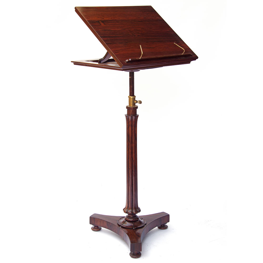Antique William IV rosewood adjustable reading or music stand. (c.1840)