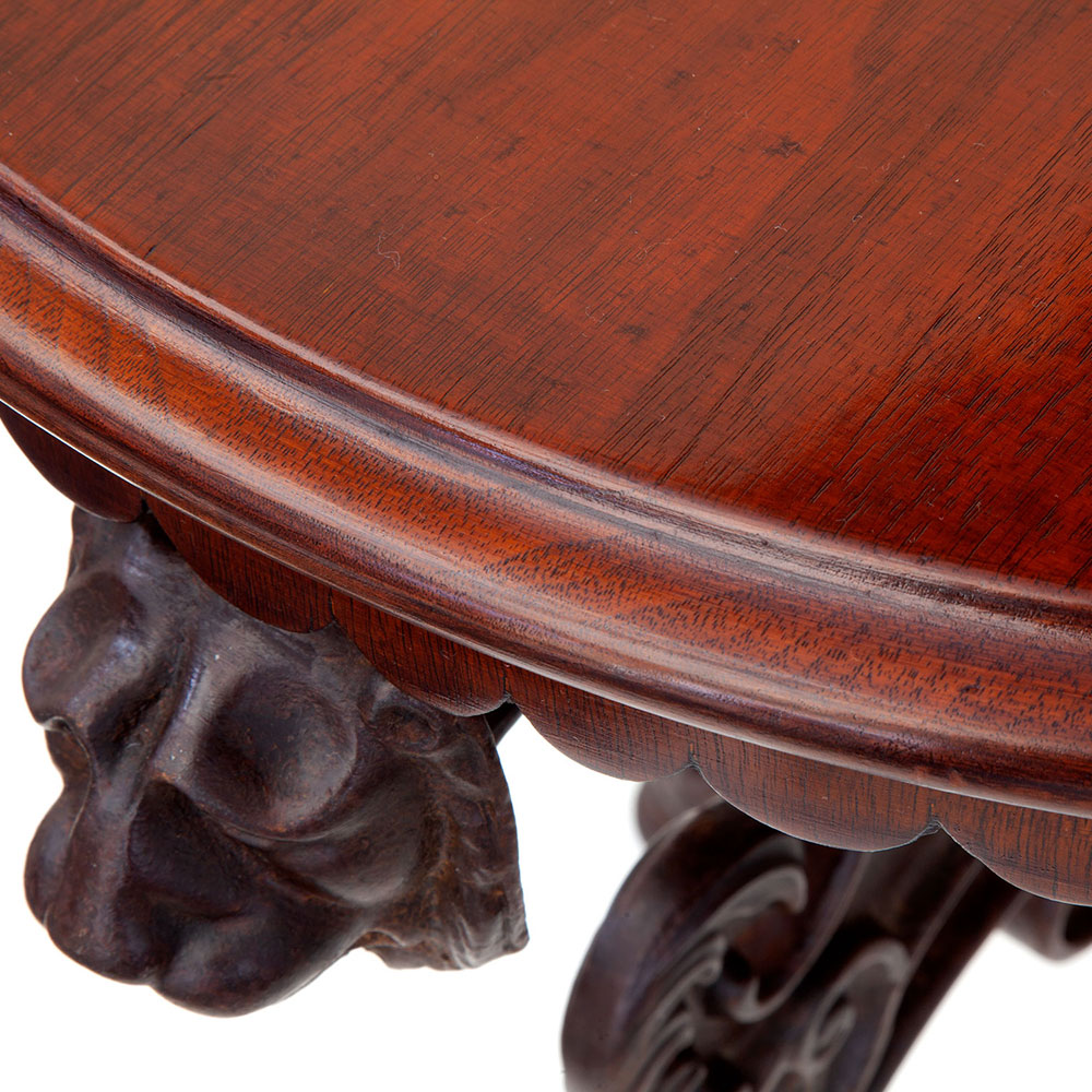 Cast Iron Pub Table with Victorian Registration Lozenge